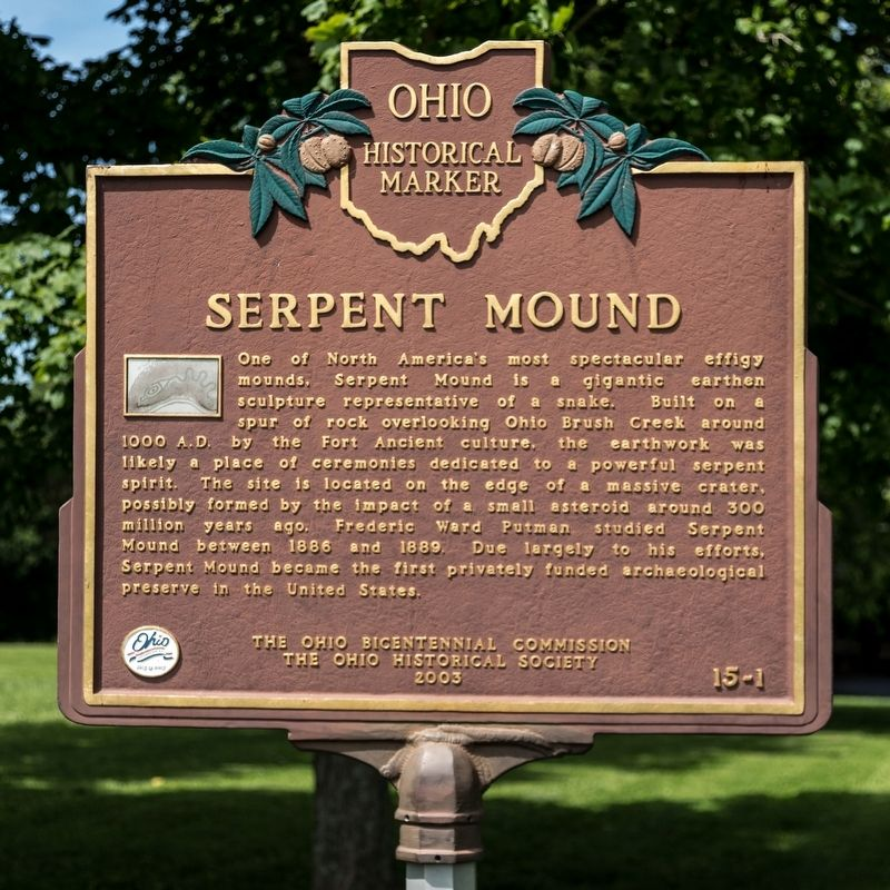 Serpent Mound Marker image. Click for full size.