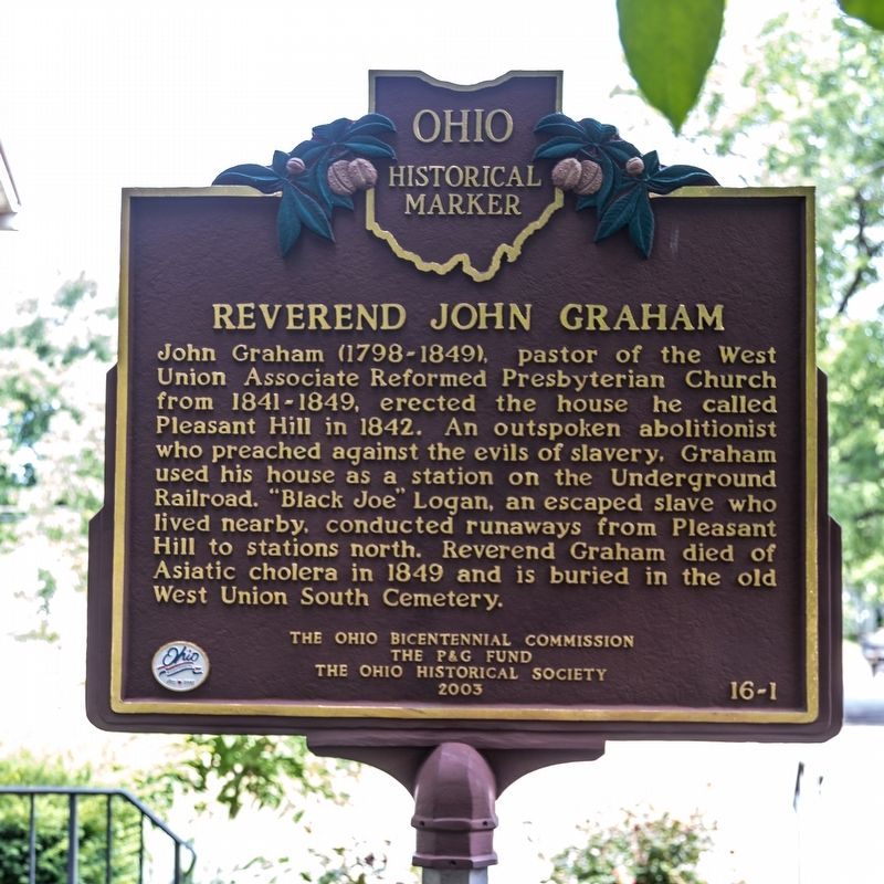 Reverend John Graham side of marker image. Click for full size.