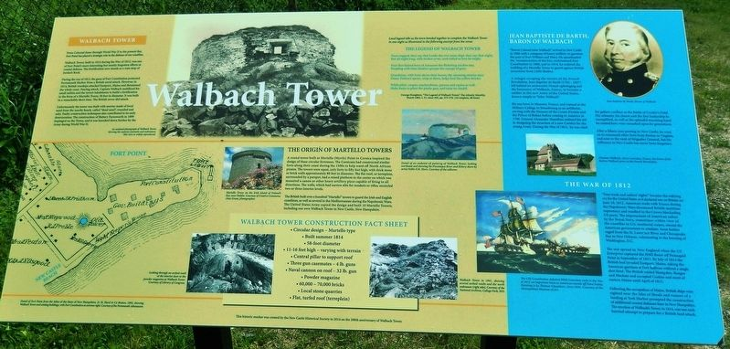 Walbach Tower Marker image. Click for full size.