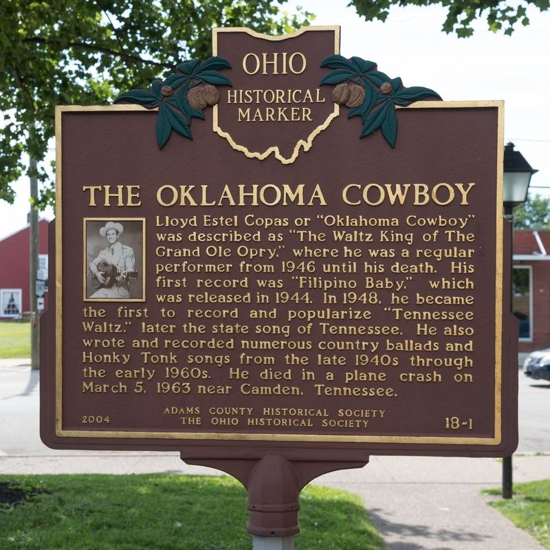 The Oklahoma Cowboy side of marker image. Click for full size.