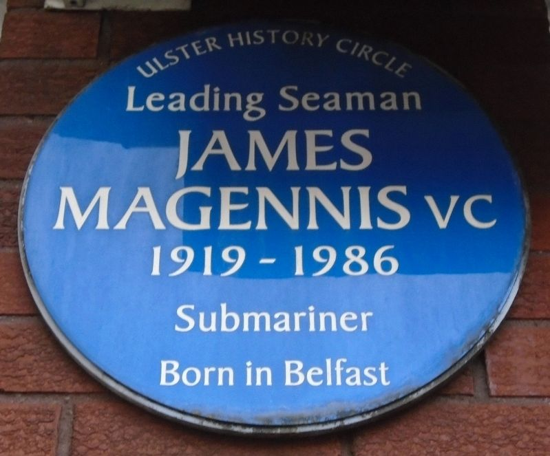 Leading Seaman James Magennis, VC Marker image. Click for full size.