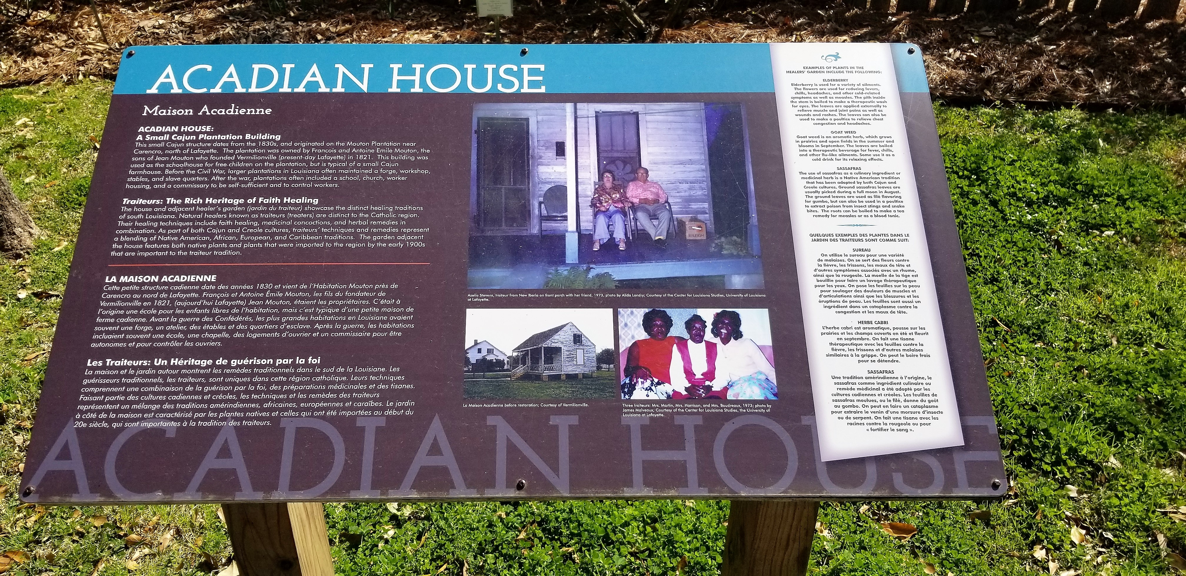 Acadian House Marker