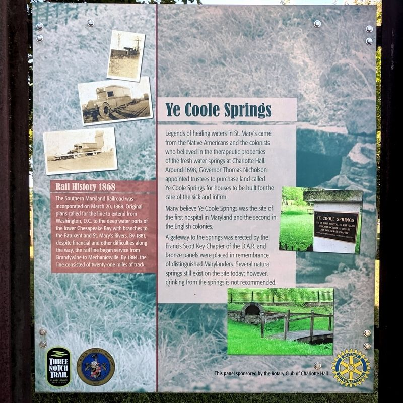 Ye Coole Springs Marker image. Click for full size.