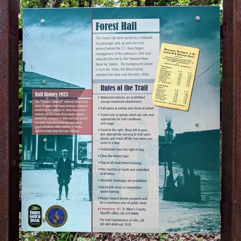 Forest Hall Marker image. Click for full size.