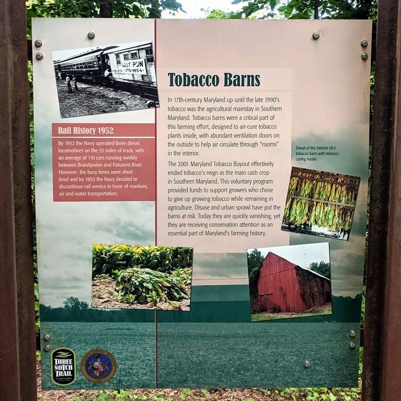 Tobacco Barns Marker image. Click for full size.
