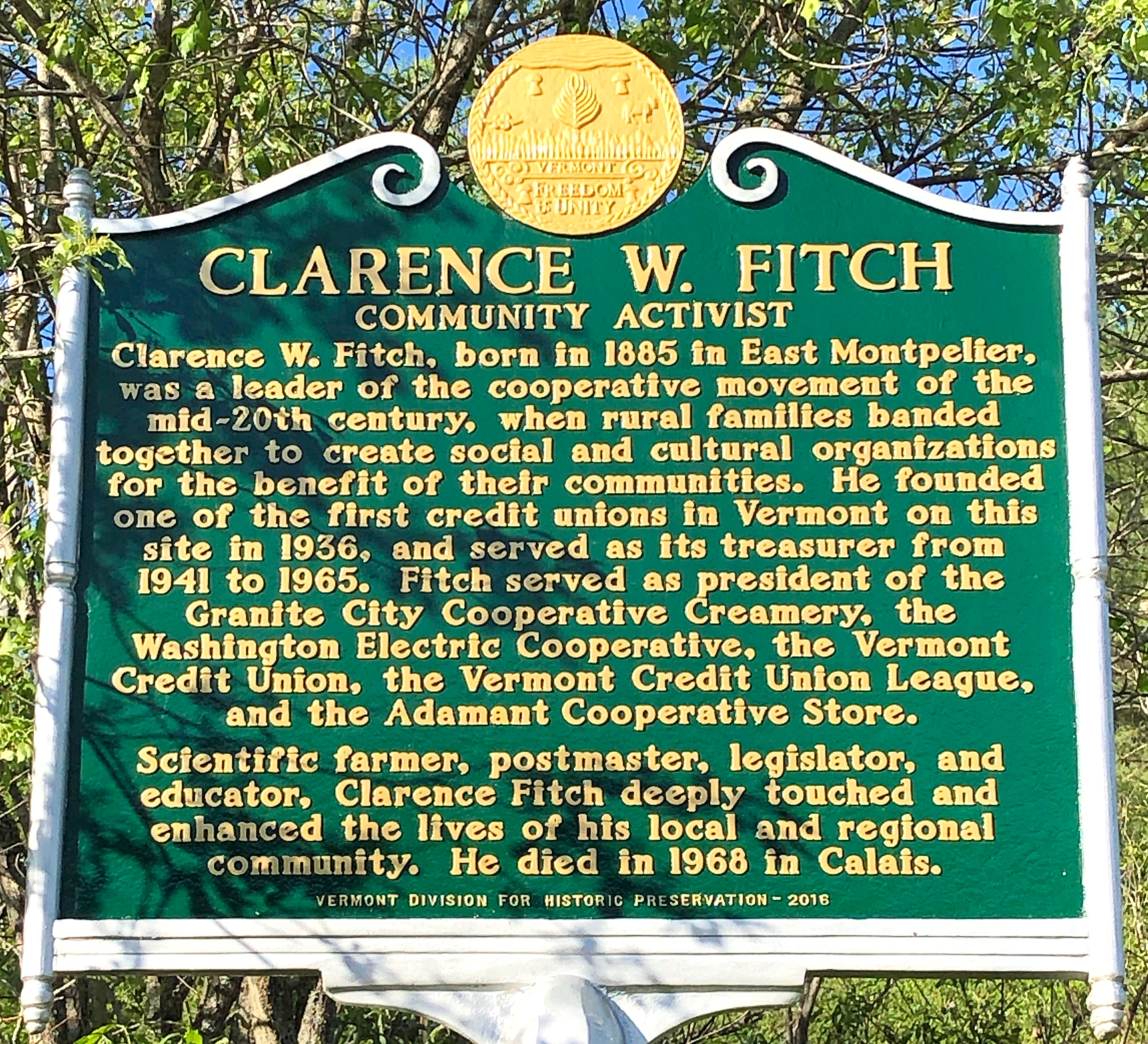 Clarence W. Fitch Marker