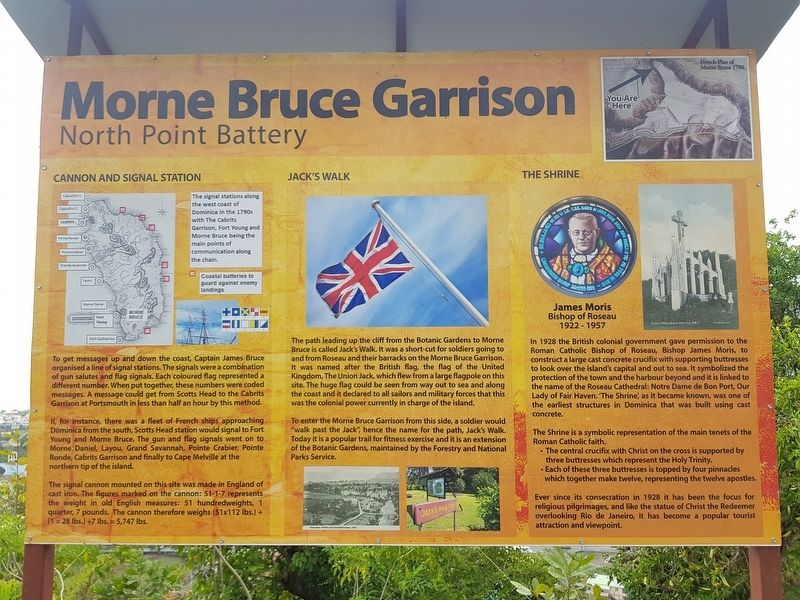 Morne Bruce Garrison Marker image. Click for full size.