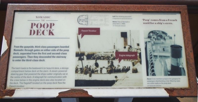 The Poop Deck Marker image. Click for full size.