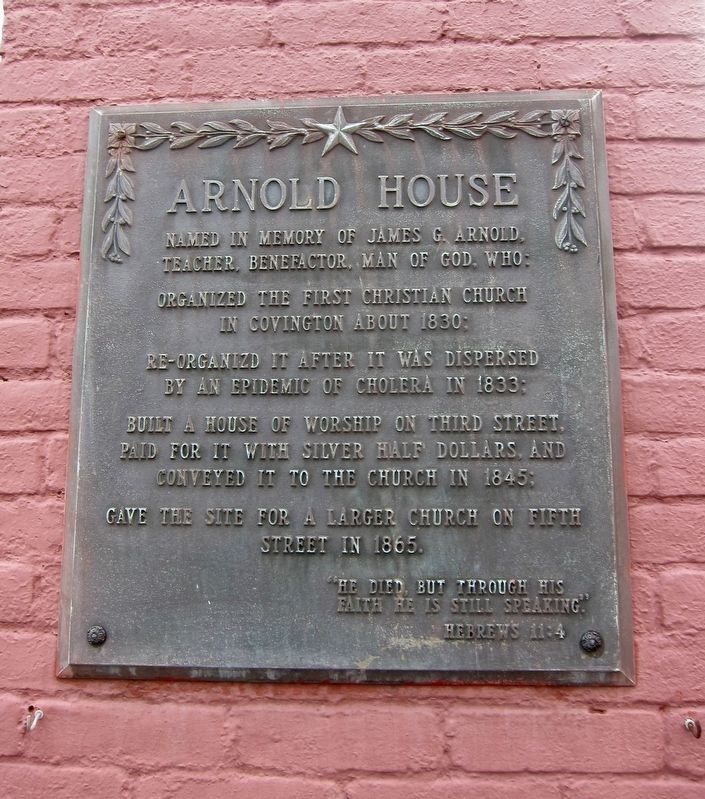 Arnold House Marker image. Click for full size.