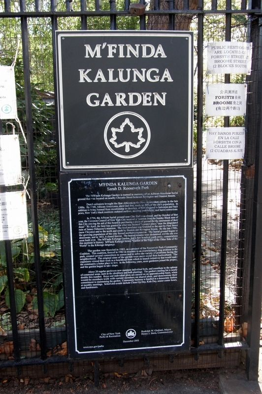 M'Finda Kalunga Marker image. Click for full size.