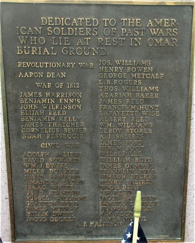 Omar Veterans Memorial image. Click for full size.