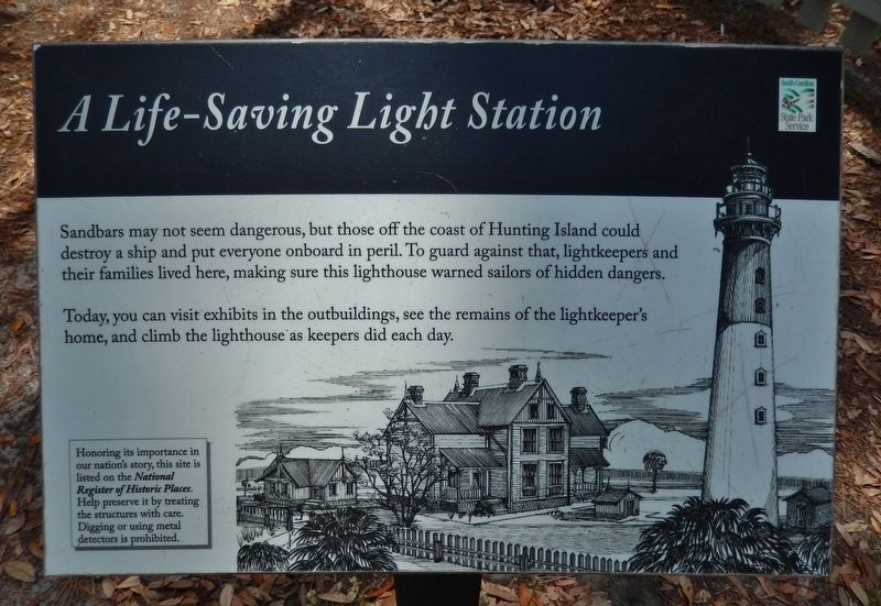 A Life-Saving Light Station Marker image. Click for full size.