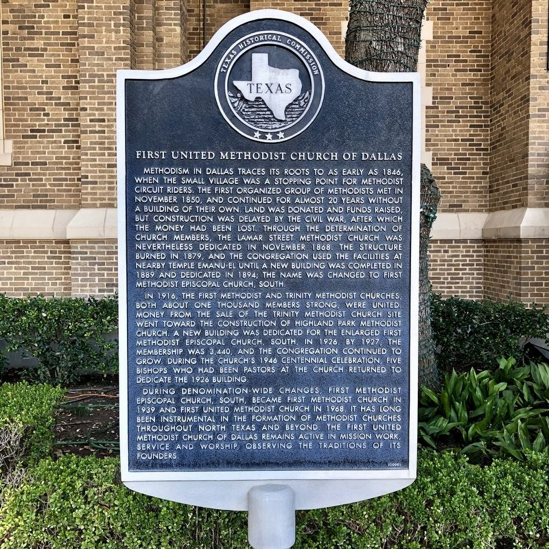 First United Methodist Church of Dallas Texas Historical Marker image. Click for full size.