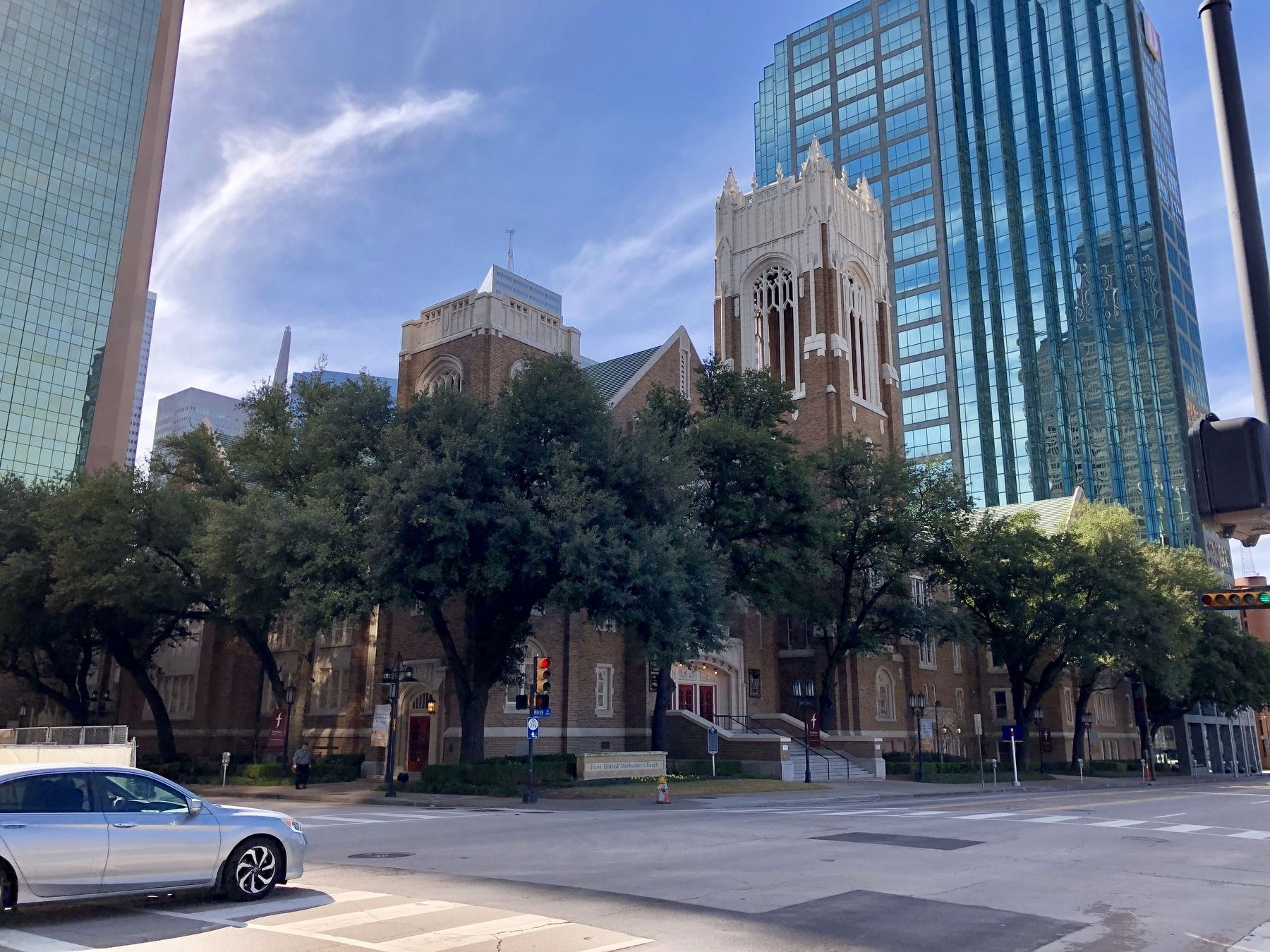 First United Methodist Church of Dallas with Marker image. Click for full size.