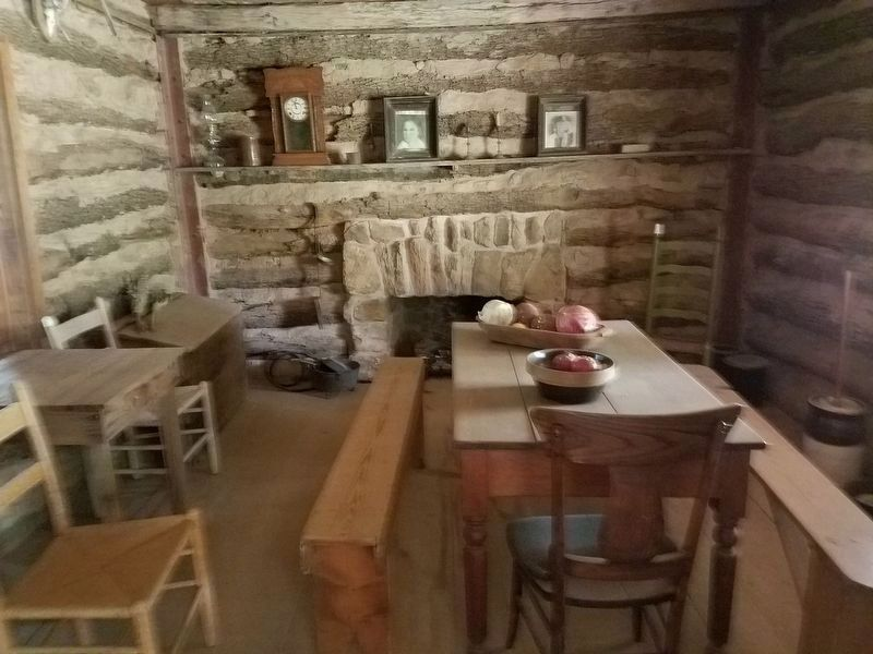 Dogtrot House interior image. Click for full size.
