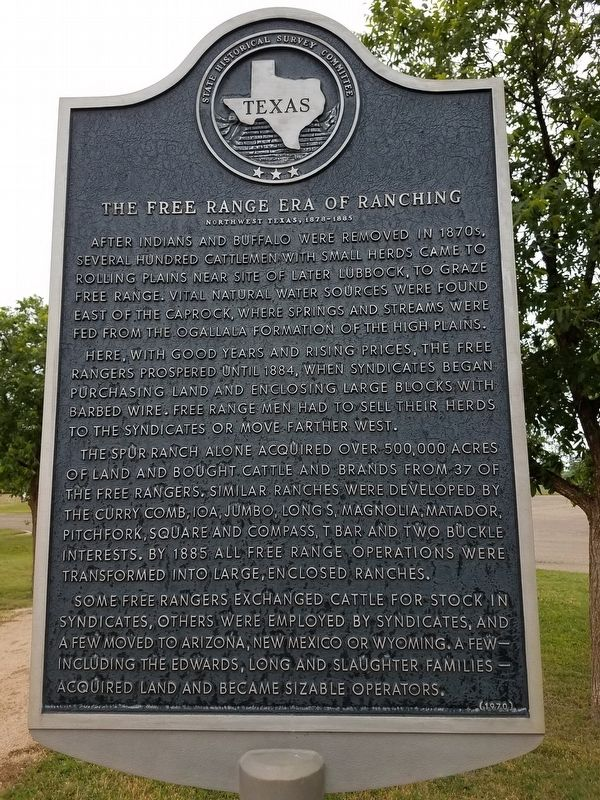 The Free Range Era of Ranching Marker image. Click for full size.