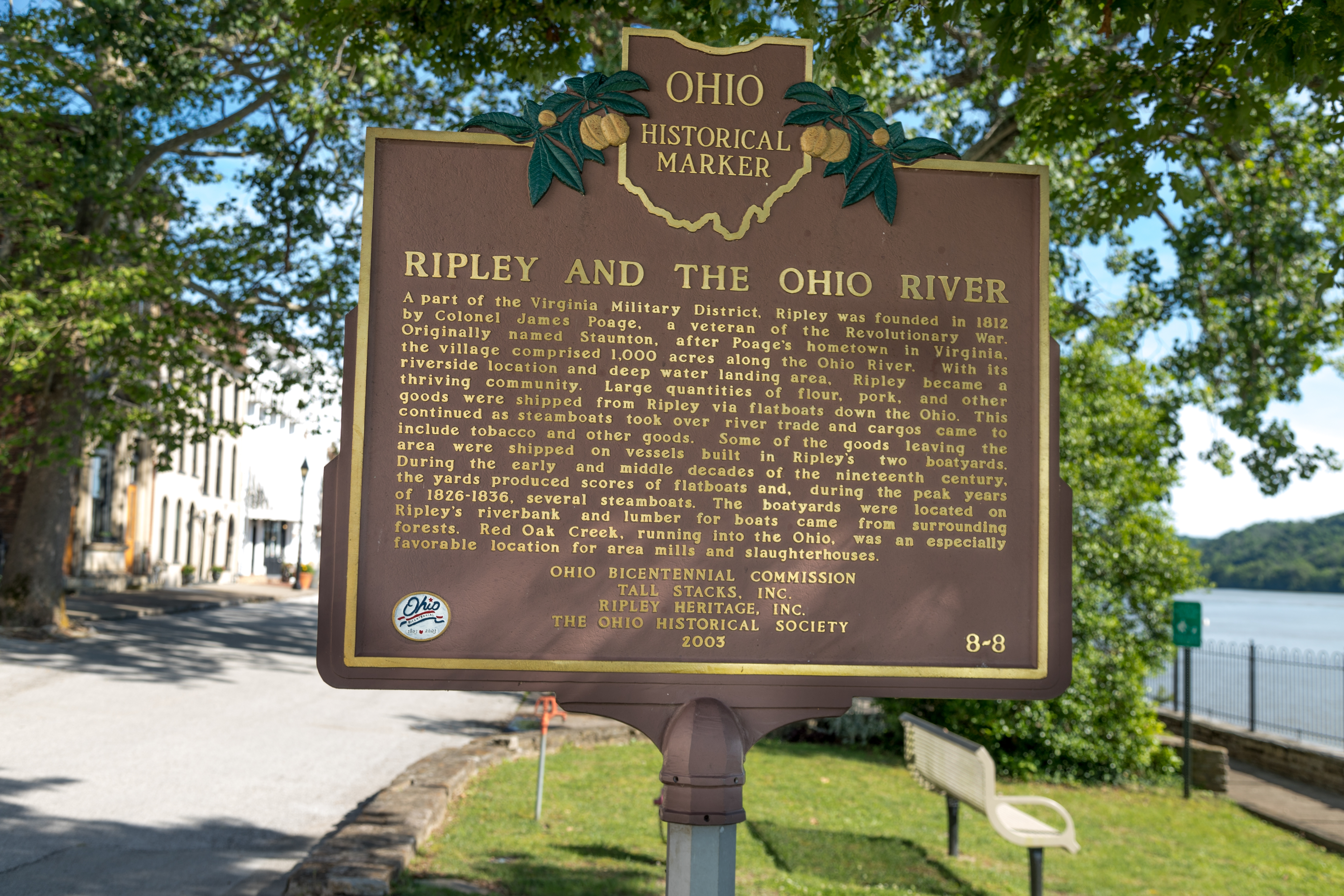 Ripley and the Ohio River Marker