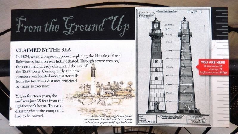 Claimed by the Sea<br>(<i>interpretive panel inside lighthouse</i>) image. Click for full size.
