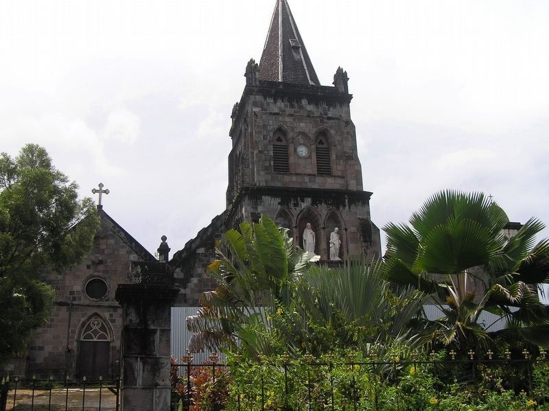 Roseau Cathedral, prior to Hurricane Maria image. Click for full size.