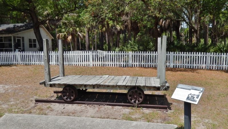 Island Delivery Service Marker<br>(<i>wide view • delivery railcar in background</i>) image. Click for full size.