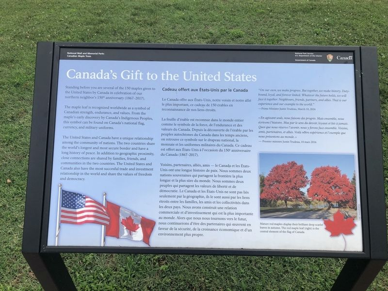 Canada's Gift to the United States Marker image. Click for full size.