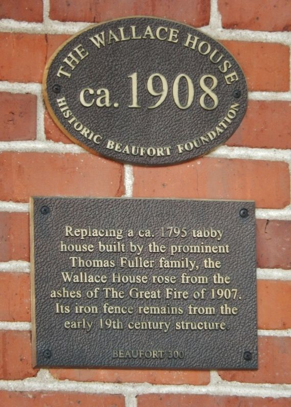 The Wallace House Marker image. Click for full size.
