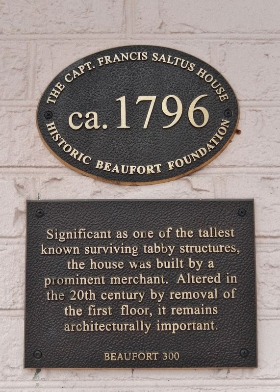 The Capt. Francis Saltus House Marker image. Click for full size.