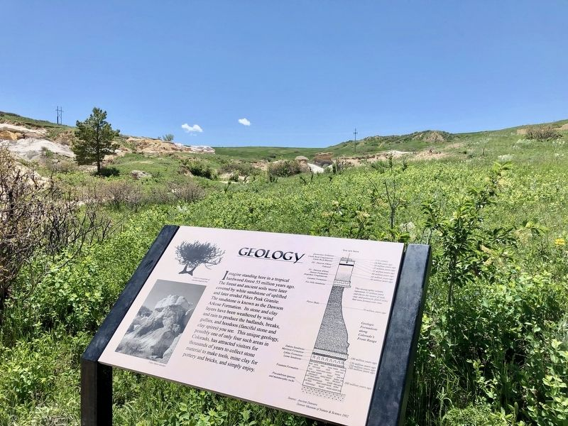 Geology Marker with portion of Paint Mines in background. image. Click for full size.
