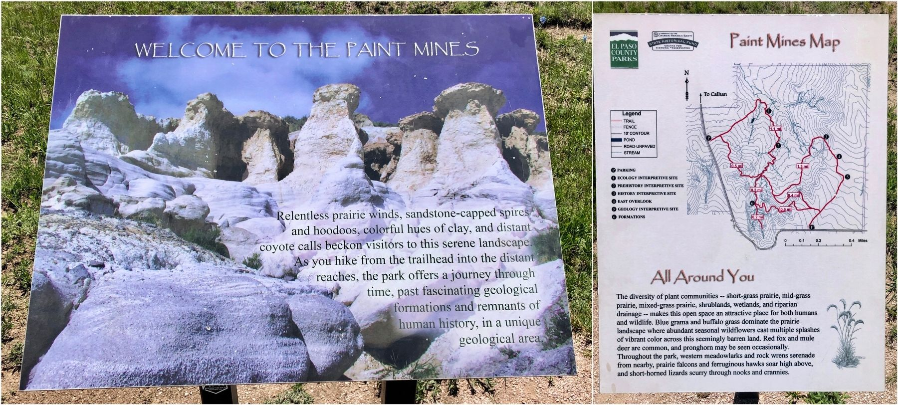 Map and additional info about the Paint Mines. image. Click for full size.
