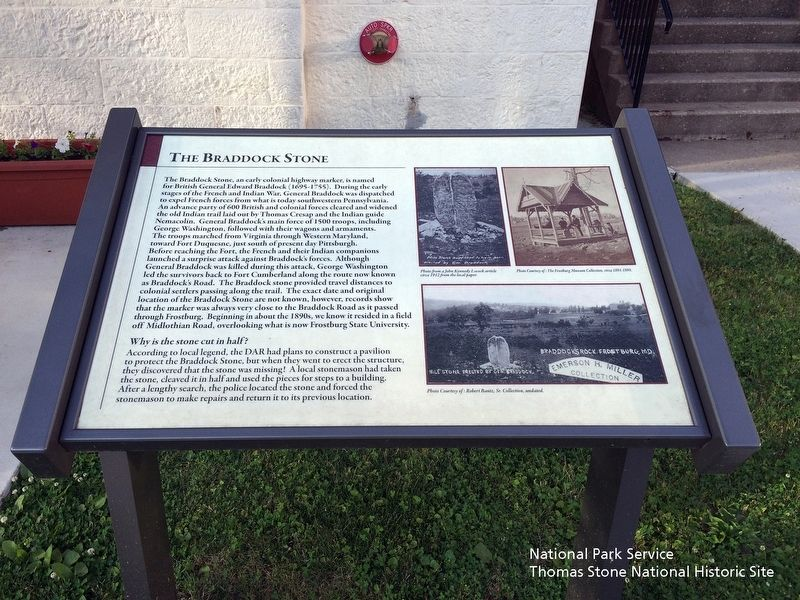 Braddock Stone Marker image. Click for full size.