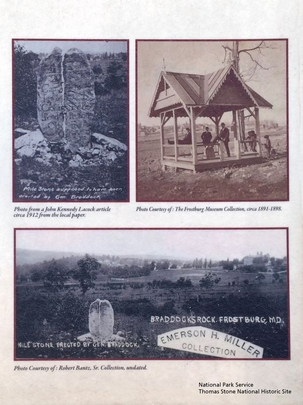 Braddock Stone Marker (Close up of images.) image. Click for full size.