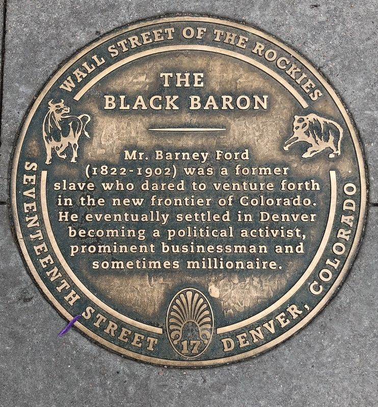 The Black Baron Marker image. Click for full size.