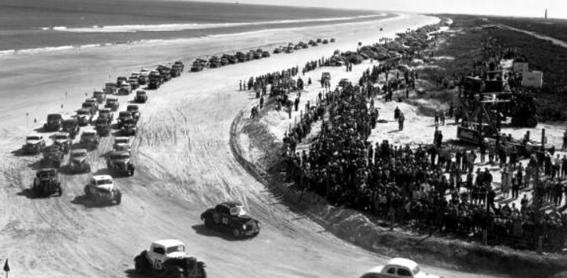 1953 Daytona Beach Stock Car Races image. Click for full size.