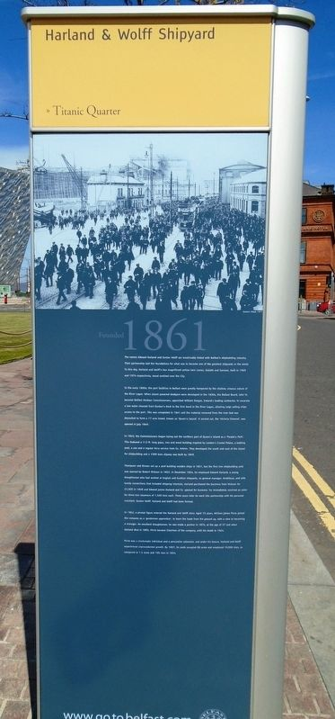 Harland and Wolff Shipyard Marker image. Click for full size.
