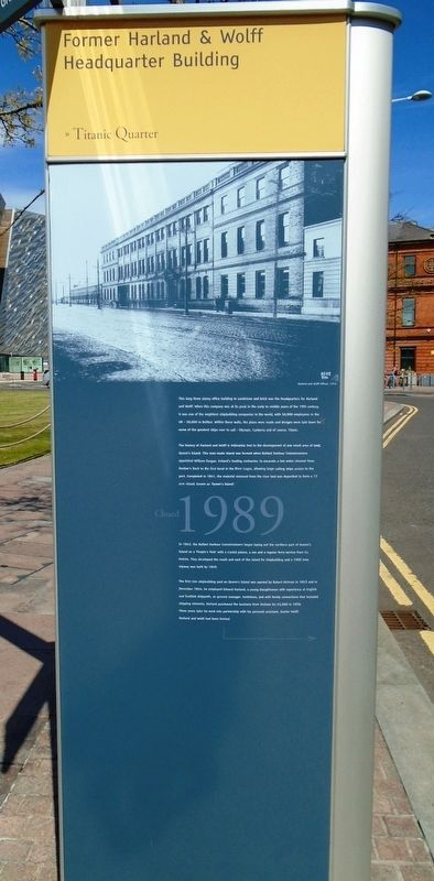 Former Harland & Wolff Headquarter Building Marker image. Click for full size.