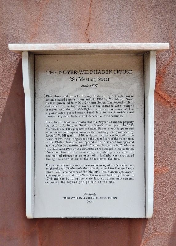 The Noyer-Wildhagen House Marker image. Click for full size.