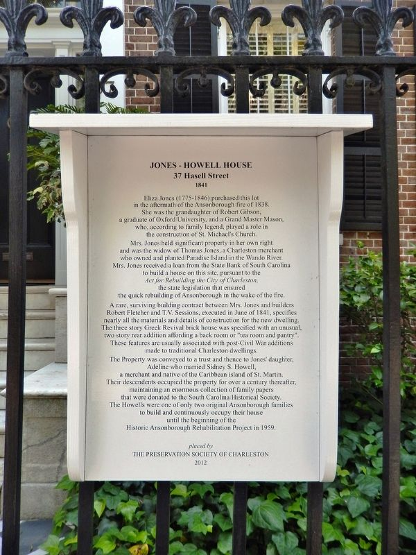 Jones-Howell House Marker image. Click for full size.