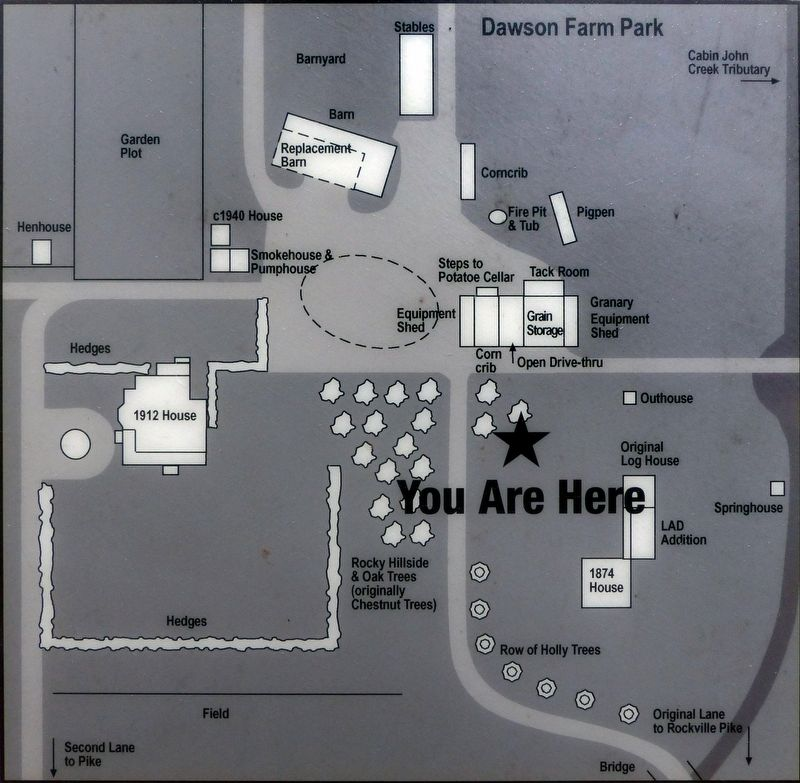 Dawson Farm Park - Dawson Farm 1840-1979 - You Are Here image. Click for full size.