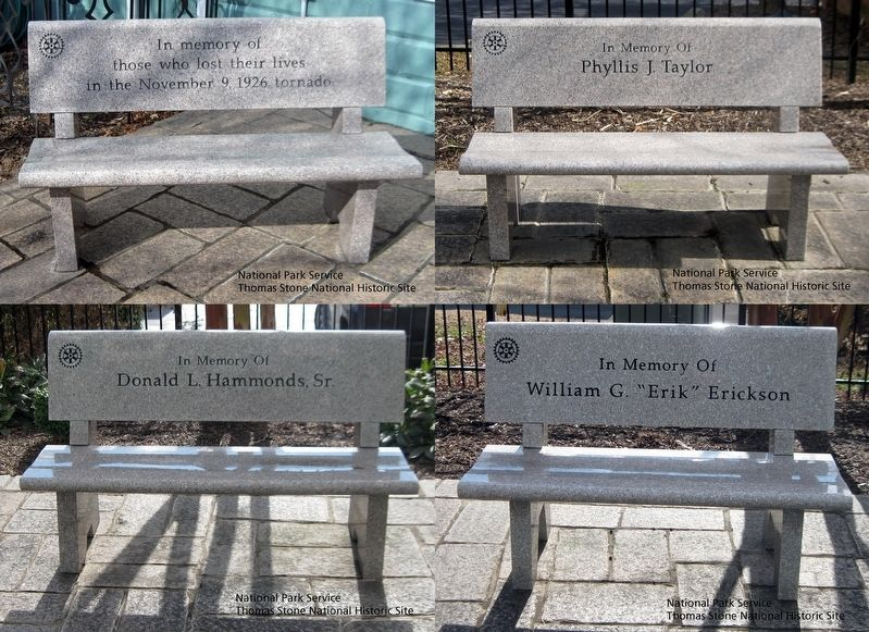 Star Memorial Garden Benches image. Click for full size.