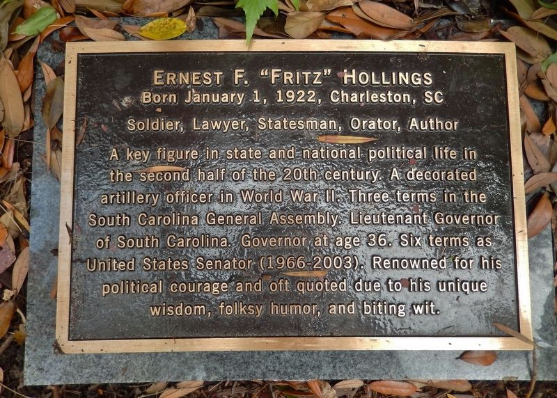 "Ernest F. ""Fritz"" Hollings Marker image. Click for full size."