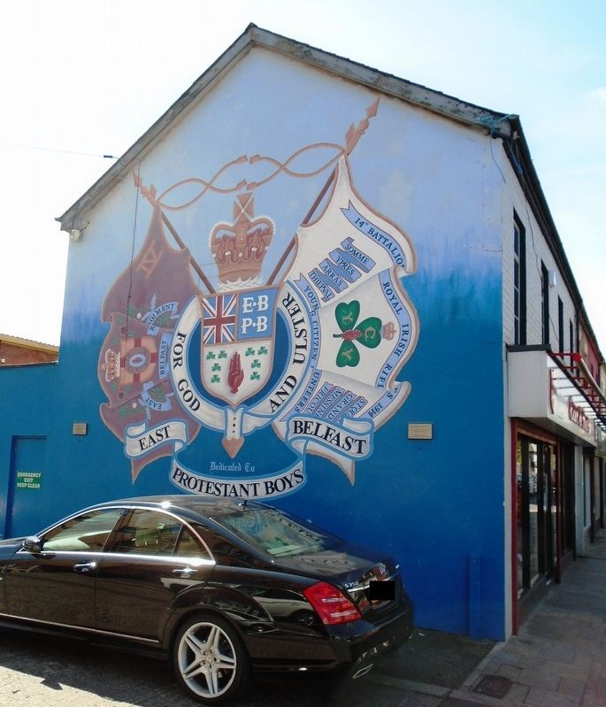 East Belfast Protestant Boys Mural and Markers image. Click for full size.