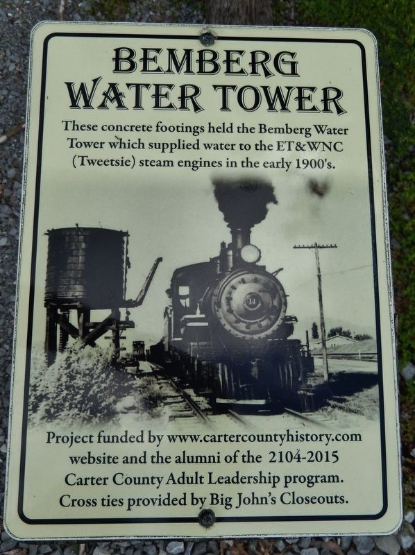 Bemberg Water Tower Marker image. Click for full size.