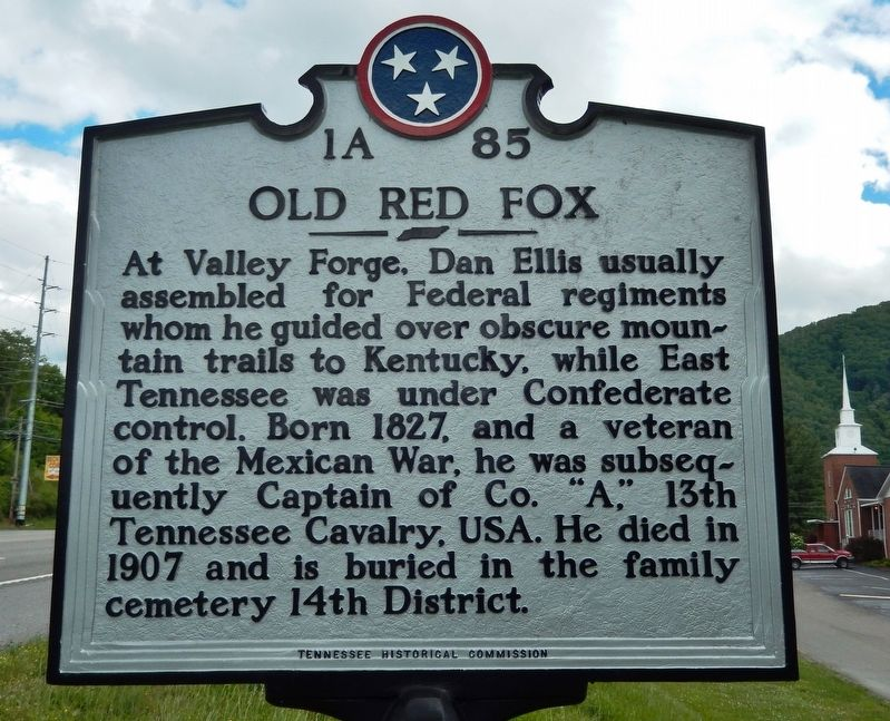 Old Red Fox Marker image. Click for full size.