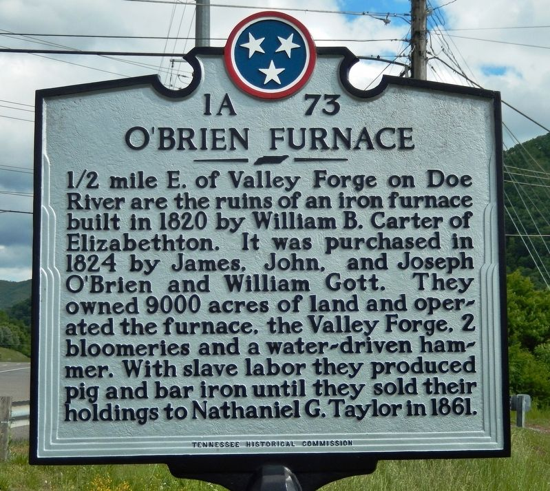 O'Brien Furnace Marker image. Click for full size.