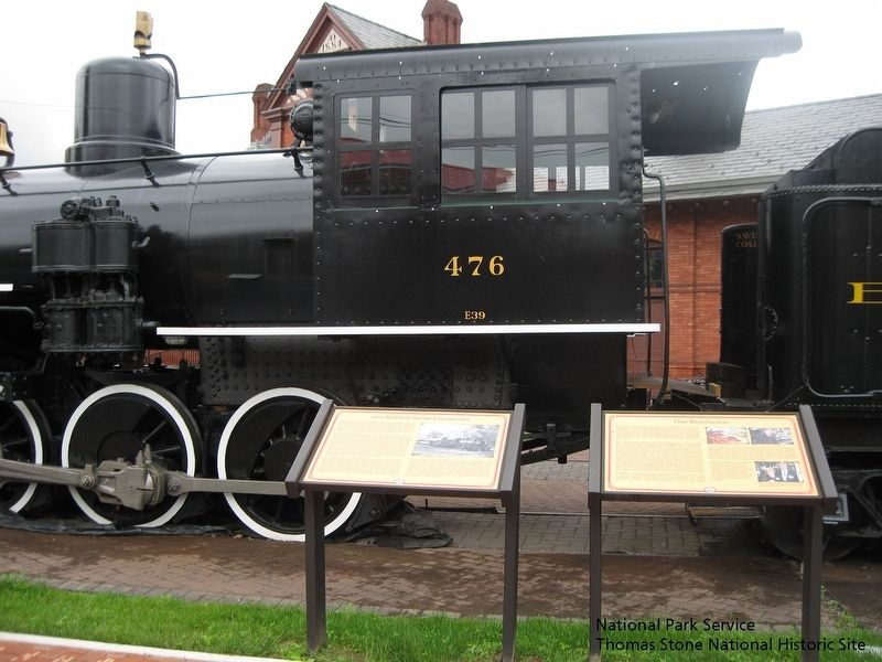 1920 Baldwin Steam Locomotive Marker, Our Benefactors Marker, Engine 476. image. Click for full size.