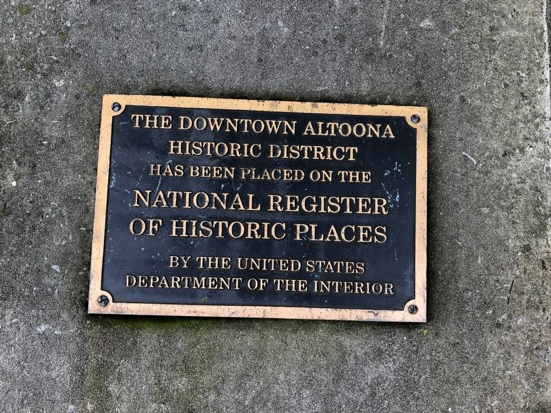 The Downtown Altoona Historic District Marker image. Click for full size.