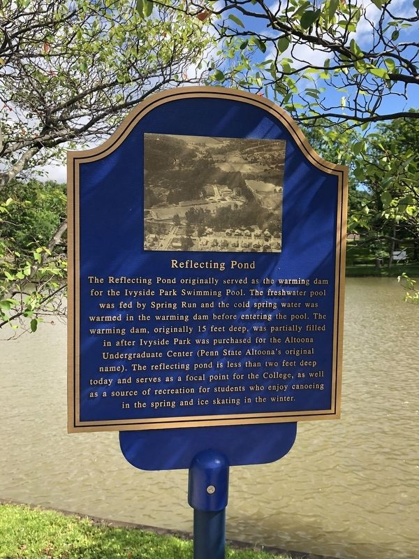 Reflecting Pond Marker image. Click for full size.