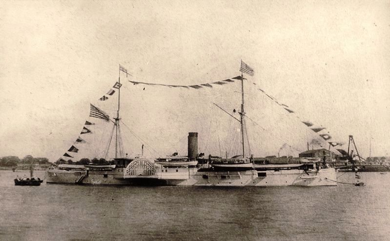 Marker detail: USS <i>Monocacy</i>, 1897 image. Click for full size.