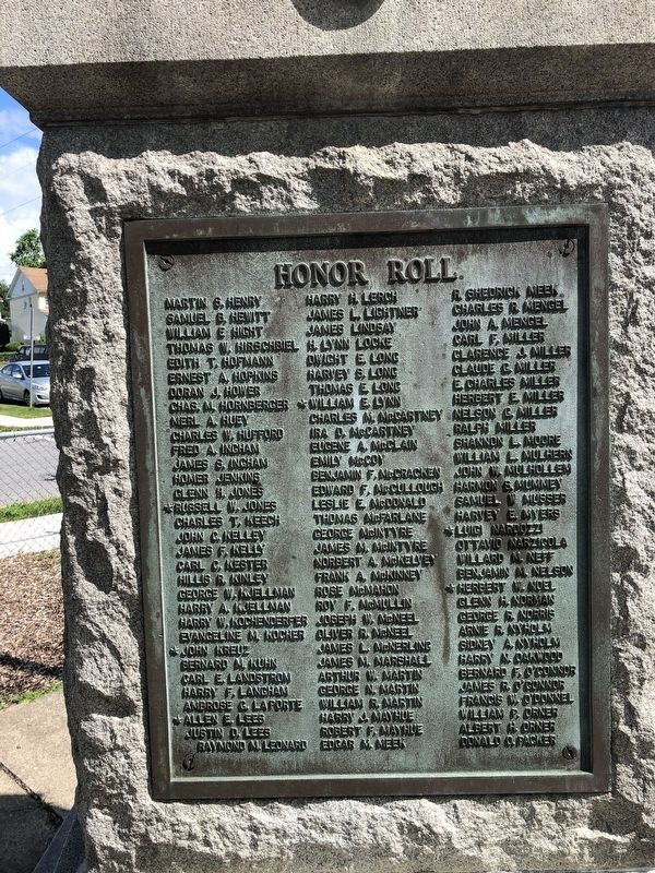 Juniata's Tribute to Honor Marker image. Click for full size.