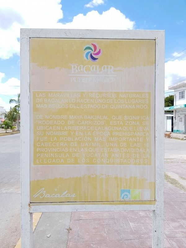 The additional, nearby marker on Bacalar image. Click for full size.